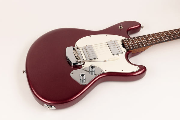 Ernie Ball Music Man StingRay RS - Maroon Mist with Figured Roasted Maple Neck and Rosewood Fretboard IN STOCK