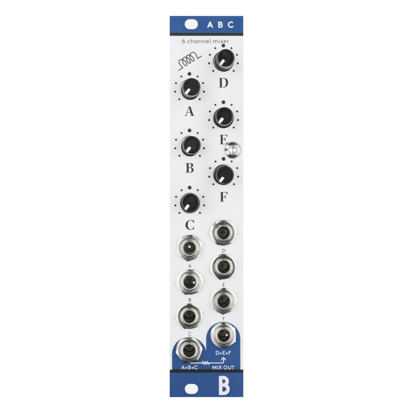 Bastl Instruments ABC Simple Six Channel Signal Mixer - Aluminum
