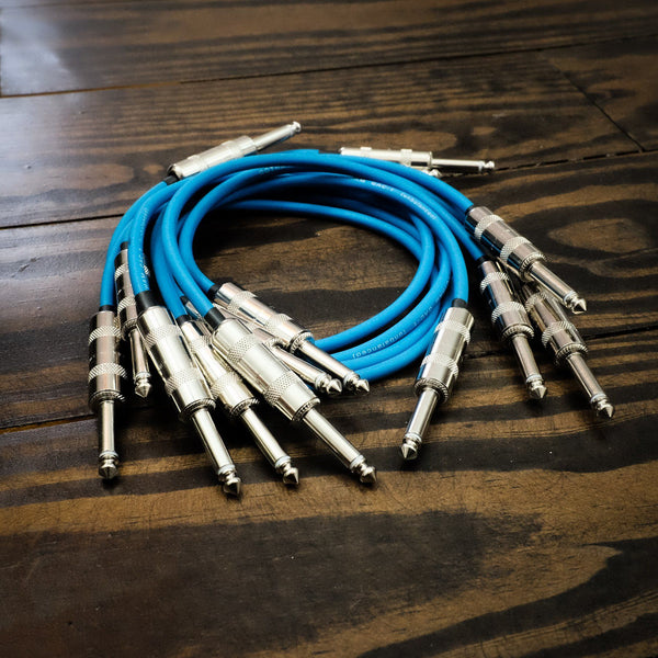 "Lincoln ROUTE 24 VOLTS (7 PACK) / 1/4"" TS Unbalanced Interconnect Gotham GAC-1 Large Format 5U Modular Patch Cable"