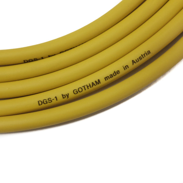 "Lincoln SPRINGFIELD / Gotham DGS-1 Straight 1/4"" Guitar & Instrument Cable"