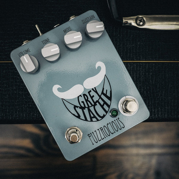 Fuzzrocious Grey Stache with Diode and Momentary Oscillation Mods