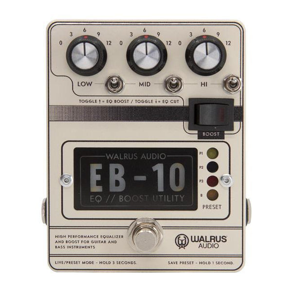 Walrus Audio EB-10 Preamp // EQ // Boost [Cream]