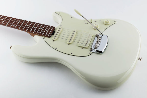 Ernie Ball Music Man Cutlass RS HSS - Ivory White with Figured Roasted Maple and Rosewood Fretboard