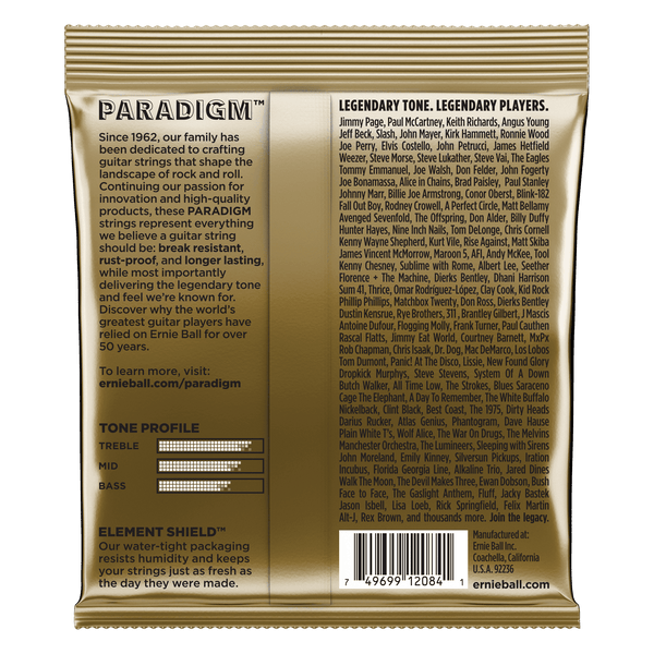 Ernie Ball Paradigm Medium 80/20 Bronze Acoustic Guitar Strings - 13-56 Gauge