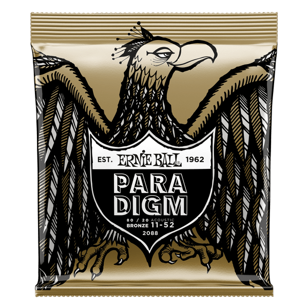 Ernie Ball Paradigm Light 80/20 Bronze Acoustic Guitar Strings - 11-52 Gauge