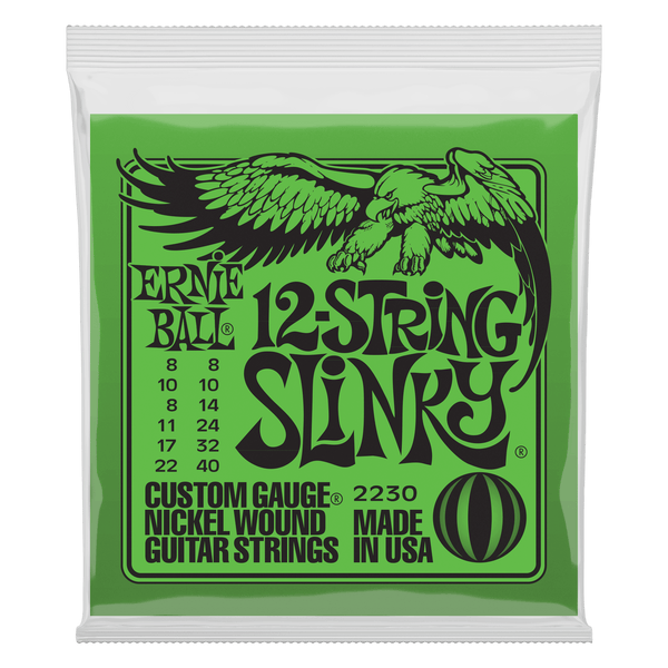 Ernie Ball Slinky 12-String Nickel Wound Electric Guitar Strings - 8-40 Gauge