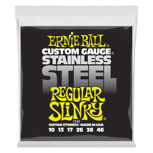 Ernie Ball Regular Slinky Stainless Steel Wound Electric Guitar Strings - 10-46 Gauge