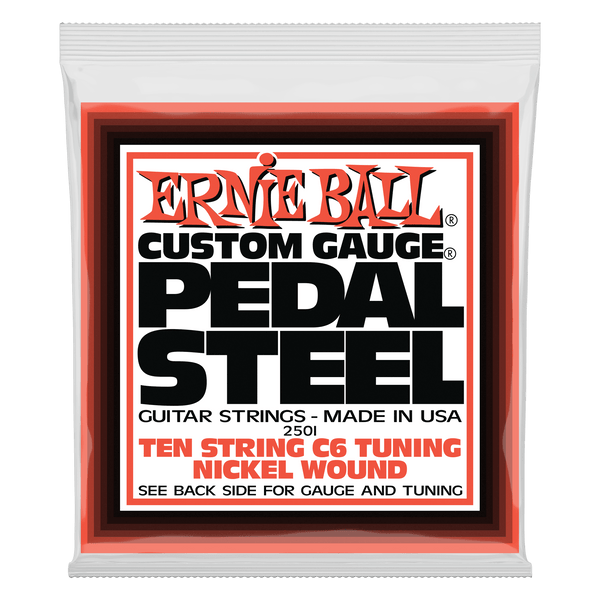 Ernie Ball Pedal Steel 10-String C6 Tuning Nickel Wound Electric Guitar Strings - 12-66 Gauge