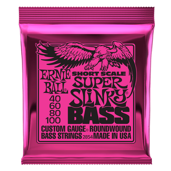 Ernie Ball Super Slinky Nickel Wound Short Scale Bass Strings - 45-100 Gauge