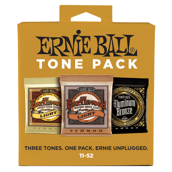Ernie Ball Light Acoustic Tone Pack - 11-52 Gauge