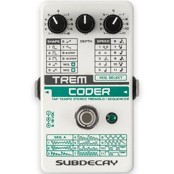 Subdecay TremCoder – Tremolo / Sequencer **In-Stock**