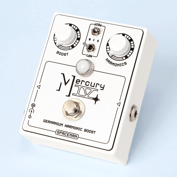 Spaceman Mercury IV / Germanium Harmonic Boost (White on White Edition)