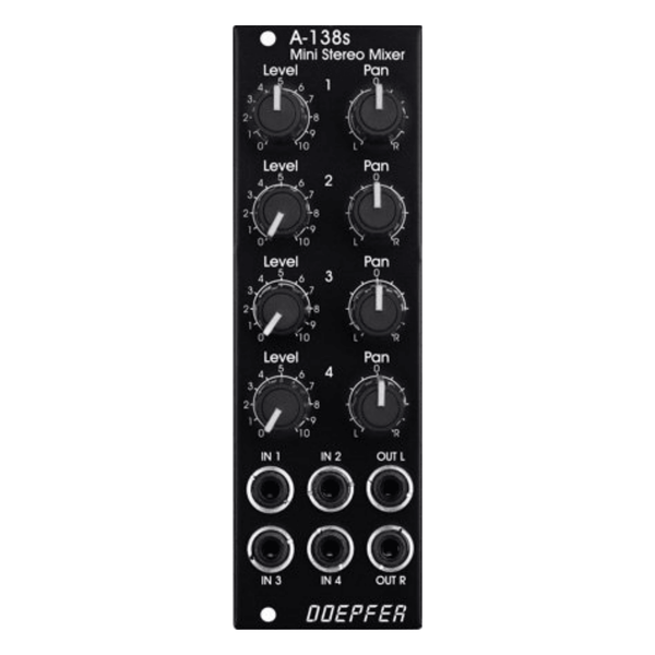 Doepfer A-138sV Mini Stereo Mixer (Vintage Edition)