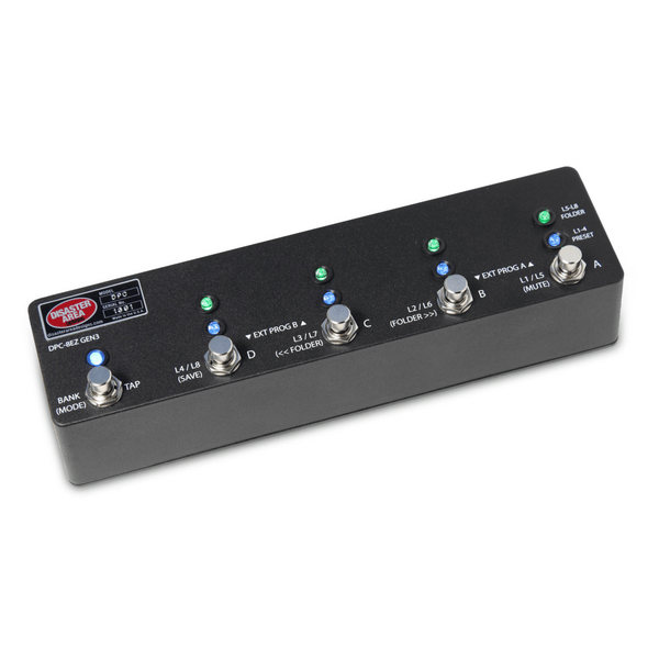 Disaster Area Designs DPC-8EZ Gen3 Programmable Bypass Switcher with MIDI - Carbon Black