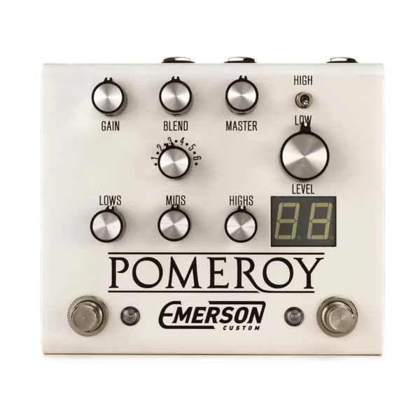 Emerson Custom Pomeroy Pedal White / Bundle includes FREE Concord Buffer