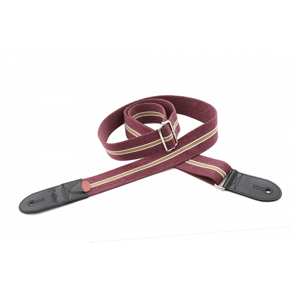 RightOn! Roadrunner ESTORIL Red Guitar And Bass Strap
