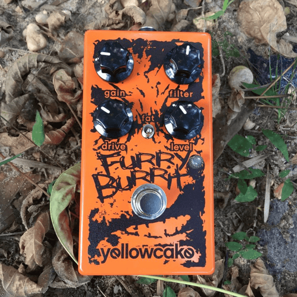 Yellowcake Pedals Furry Burrito Overdrive/Fuzz Pedal ORANGE