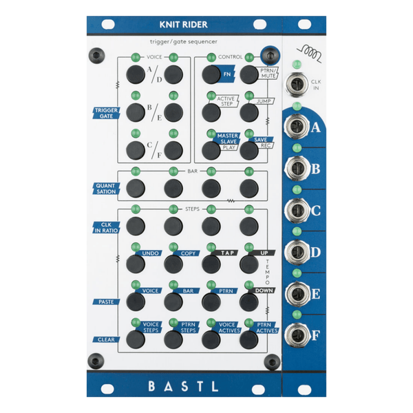 Bastl Instruments KNIT RIDER Six-voice Trigger/Gate Sequencer - Aluminum