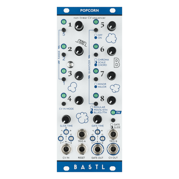 Bastl Instruments POPCORN Non-linear CV Sequencer - Aluminum