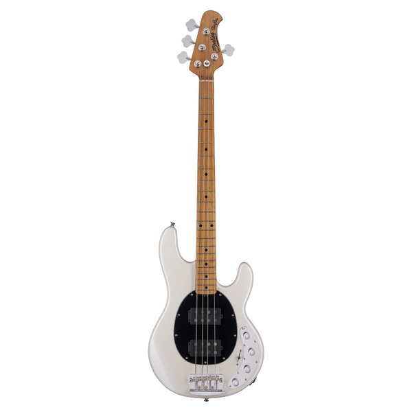 Sterling by Music Man StingRay RAY34HH, Pearl White with Roasted Maple Neck