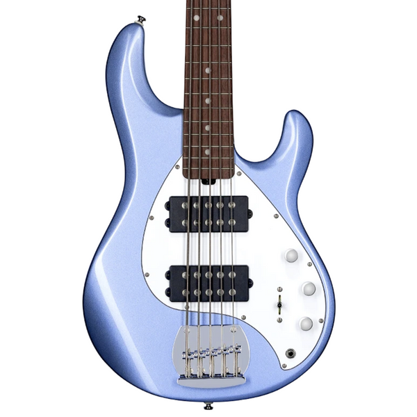 Sterling by Music Man StingRay5 HH, Lake Blue Metallic, 5-String