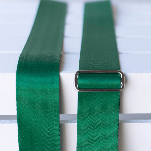 Original Fuzz Seatbelt Guitar Strap in MATISSE GREEN / Sound Parcel Exclusive