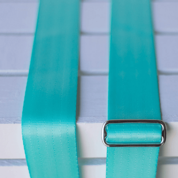 Original Fuzz Seatbelt Guitar Strap in SURF GREEN  / Sound Parcel Exclusive