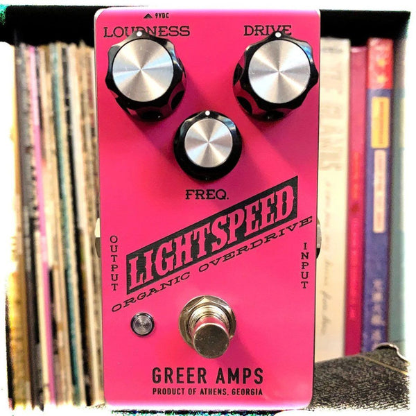 Greer Amps Lightspeed Organic Overdrive -- Limited Edition HOT PINK and Black