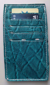 Leather Cardholder, Front Pocket Wallet, Turquoise