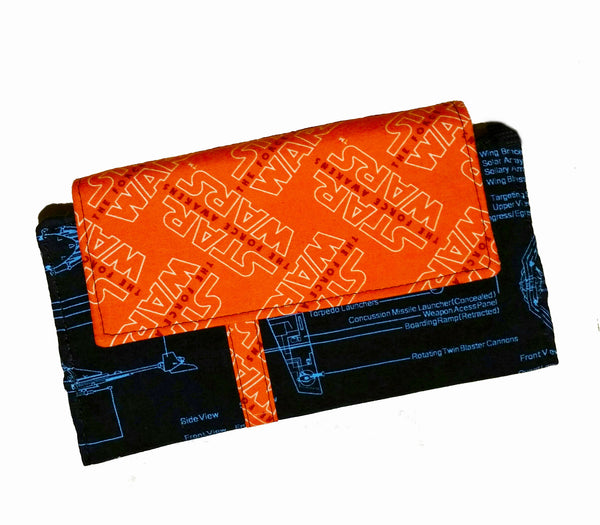 Wallet Star Wars Blue Orange Ladies Slim Style