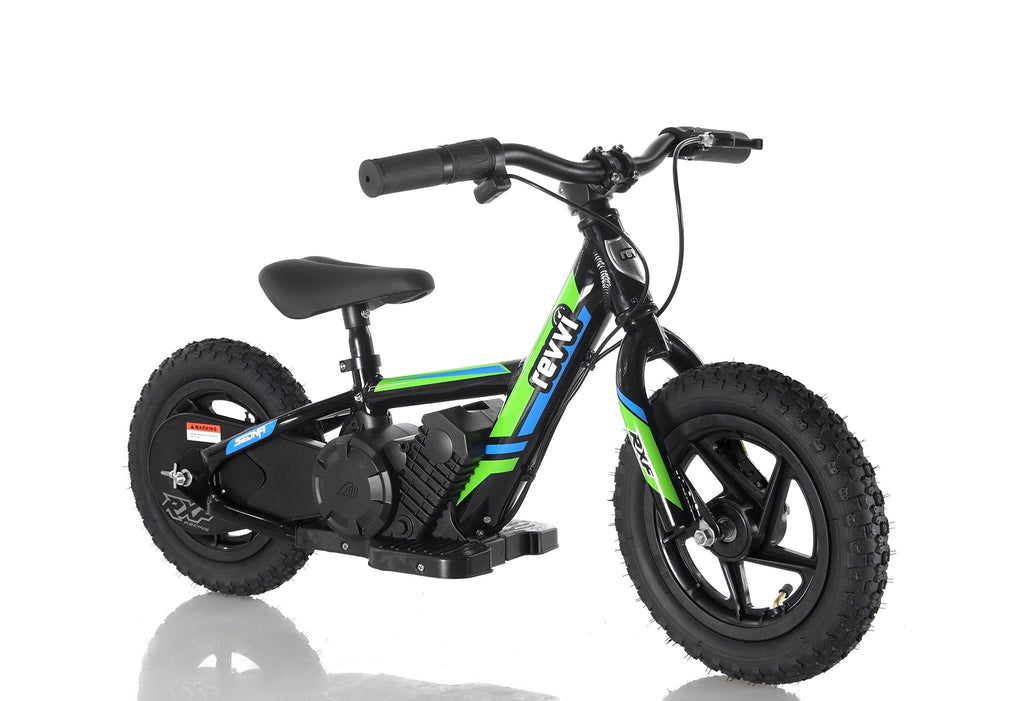 "CHRISTMAS PRE ORDER -  12"" Kids Electric Bike - Green - MotoX1-Motocross ATV"