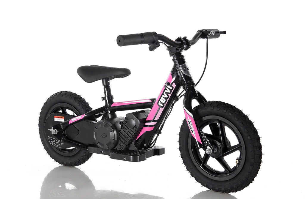 "CHRISTMAS PRE ORDER - Revvi 12"" Kids Electric Bike - Pink - MotoX1-Motocross ATV"