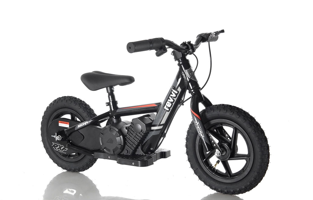 "2019 Revvi 12"" Kids Electric Bike - Black"