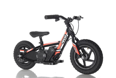 "PRE ORDER JULY - Revvi 12"" Kids Electric Bike - RED - MotoX1-Motocross ATV"