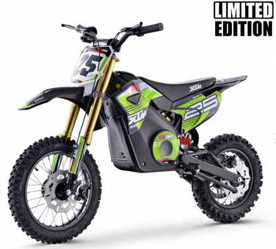 XTM MX-PRO 48V 1300W BIG WHEEL LITHIUM DIRT BIKE - GREEN - MotoX1-Motocross ATV