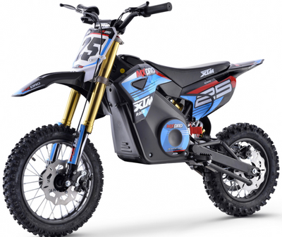 PRE ORDER SEPTEMBER - XTM NEW MX-PRO 36V 1100W LITHIUM DIRT BIKE PIT BIKE - BLUE - MotoX1-Motocross ATV