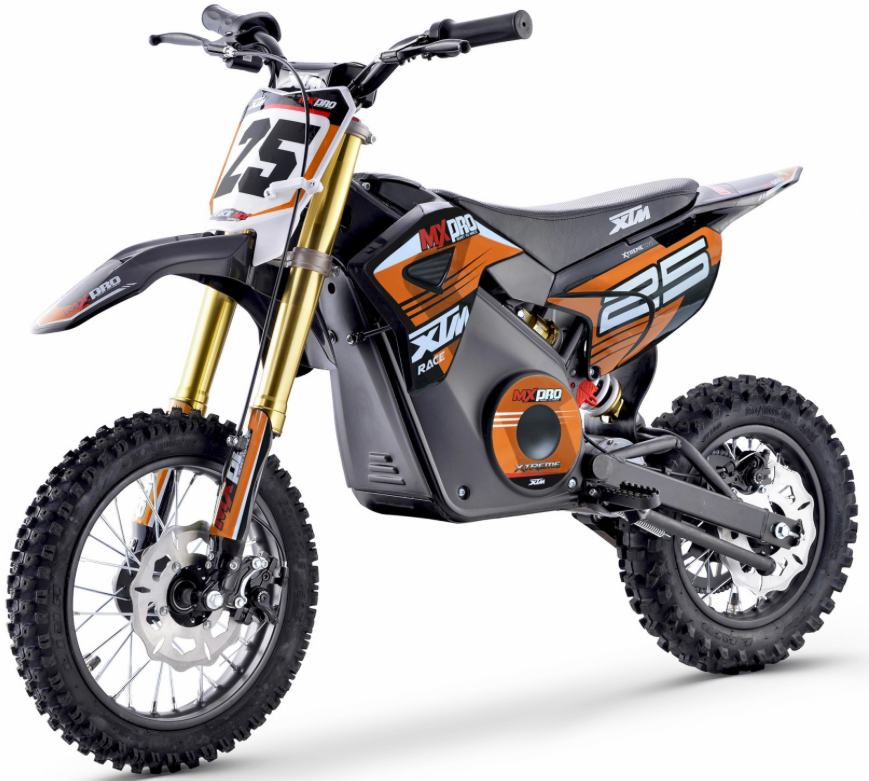 XTM NEW MX-PRO 36V 1100W LITHIUM DIRT BIKE PIT BIKE - ORANGE - MotoX1-Motocross ATV