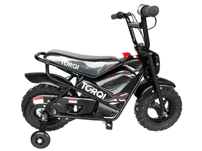 Torqi E-250 Kids Monkey Bike - BLACK - MotoX1-Motocross ATV