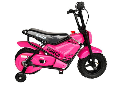 Torqi E-250 Kids Monkey Bike - PINK - MotoX1-Motocross ATV
