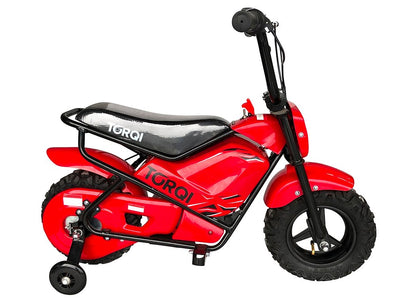 Torqi E-250 Kids Monkey Bike - RED - MotoX1 Motocross ATV