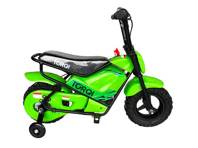 Torqi E-250 Kids Monkey Bike - GREEN - MotoX1-Motocross ATV