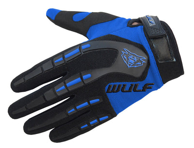 BLUE - WULFSPORT Cub Attack Kids Junior Motorbike Motocross Gloves - MotoX1-Motocross ATV