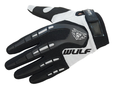 WHITE - WULFSPORT Cub Attack Kids Junior Motorbike Motocross Gloves - MotoX1-Motocross ATV