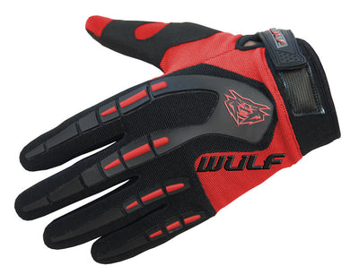 RED - WULFSPORT Cub Attack Kids Junior Motorbike Motocross Gloves - MotoX1-Motocross ATV