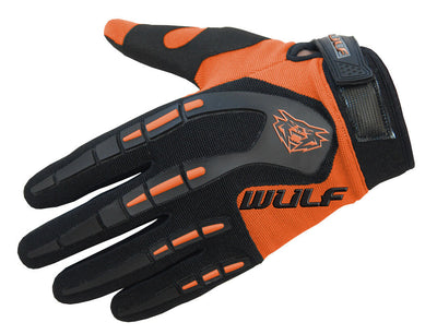 ORANGE - WULFSPORT Cub Attack Kids Junior Motorbike Motocross Gloves - MotoX1-Motocross ATV