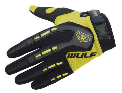 YELLOW - WULFSPORT Cub Attack Kids Junior Motorbike Motocross Gloves - MotoX1-Motocross ATV