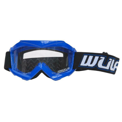 BLUE - Wulfsport Cub Tech Motocross Goggles Kids Youth MX Off Road Dirt Bike Goggles - MotoX1 Motocross ATV