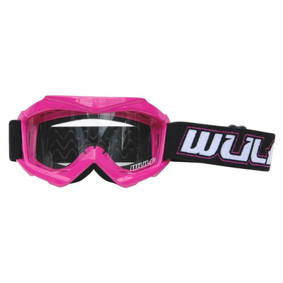 PINK - Wulfsport Cub Tech Motocross Goggles Kids Youth MX Off Road Dirt Bike Goggle - MotoX1-Motocross ATV