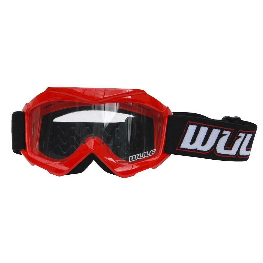 RED - Wulfsport Cub Tech Motocross Goggles Kids Youth MX Off Road Dirt Bike Goggle - MotoX1 Motocross ATV