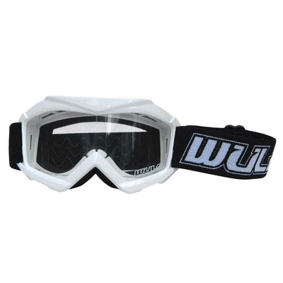 WHITE - Wulfsport Cub Tech Motocross Goggles Kids Youth MX Off Road Dirt Bike Goggle - MotoX1 Motocross ATV